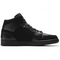 Air Jordan 1 Mid Triple Black - Vabaajajalatsid
