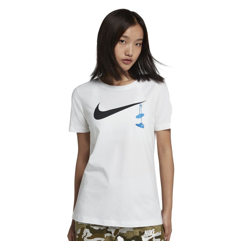 Nike Wmns Swoosh Shoes Embroidery Tee - T-särgid