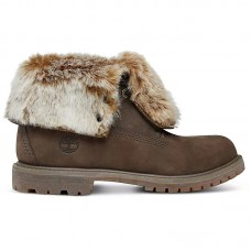 Timberland Wmns Authentics Faux Fur Fold-Down