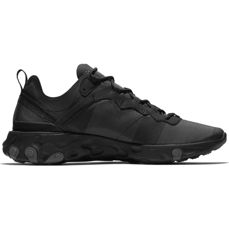 Nike React Element 55 Triple Black - Vabaajajalatsid
