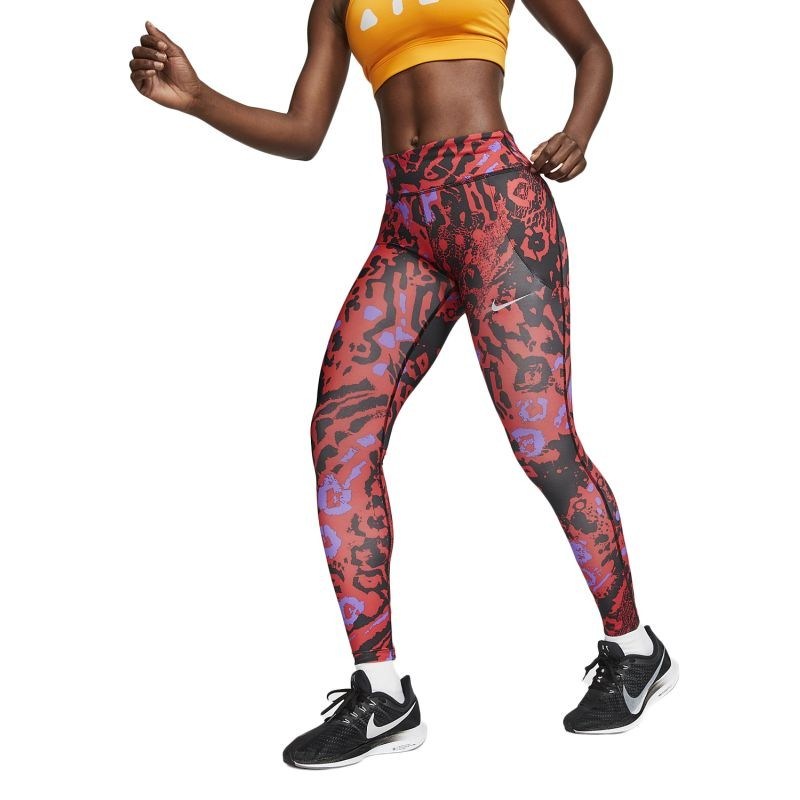 Nike Wmns Fast 7/8 Printed Running Tights - Retuusid