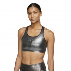 Nike Wmns Swoosh Icon Clash Shimmer Medium-Support 1-Piece Pad Sports liemenėlė - Spordirinnahoidjad